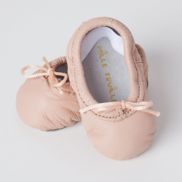 baby ballet shoes - Newborn Baby Ballet Slippers - Classic prima Ballerina Pink leather shoes - newborn ballerina nursery decor