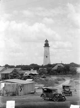 Port Isabel lighthouse, 1920s Texas