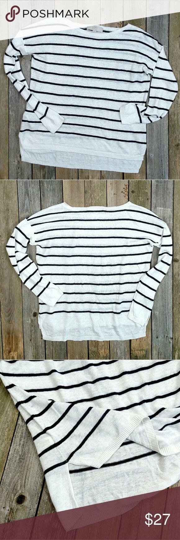 Selling this LOFT 100% Linen Open Weave Boatneck Pullover on Poshmark! My username is: shann12189. #shopmycloset #poshmark #fashion #shopping #style #forsale #LOFT #Tops