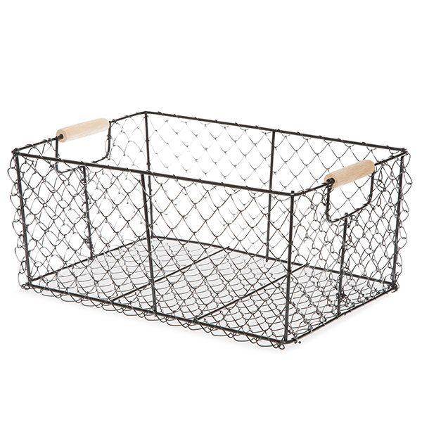 Rustic Wire Basket, Large Fall Porch Decor| Farmhouse Decor | Gift Basket |  Storage