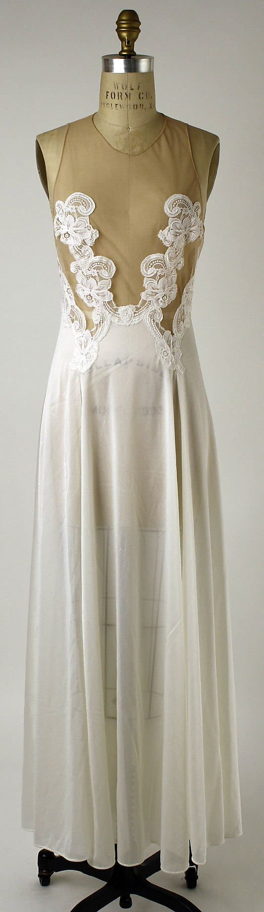 Nightgown,  Formfit Rogers, 1976.