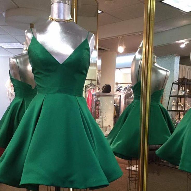 hunter green homecoming dress,short prom dresses 2017,short cocktail dress,cute dress,juniors prom dress,graduation dress