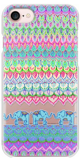 Casetify iPhone 7 Snap Case - Tiny Circus Elephants - transparent by Micklyn Le Feuvre