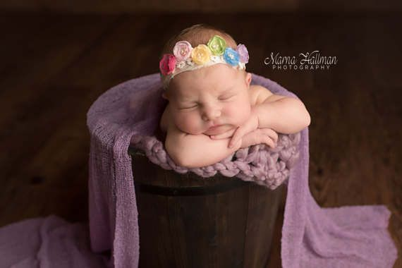 Rainbow Tieback Rainbow Headband Rainbow Baby by WillowTreeGardens