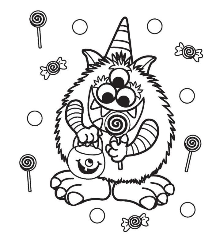 Cute Halloween Coloring Pages Best Coloring Pages For Kids Free Halloween Coloring Pages Halloween Coloring Pages Printable Monster Coloring Pages