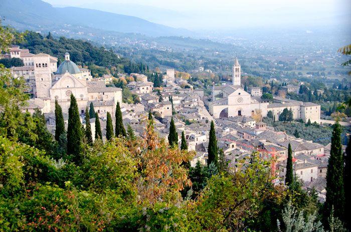 Den helige Franciskus hemstad Assisi