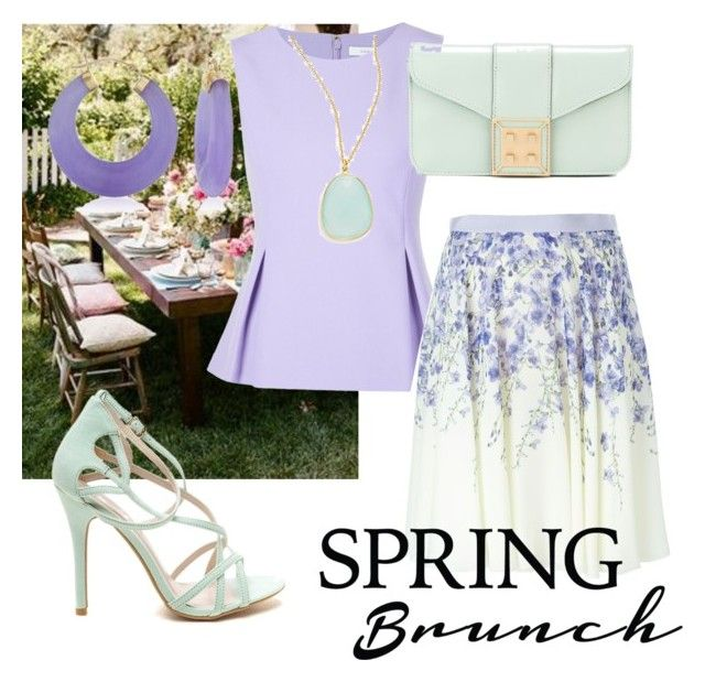 """lunch on the garden"" by creativemind18 ❤ liked on Polyvore featuring Diane Von Furstenberg, Giambattista Valli, Manurina, Ross-Simons and Argento Vivo"
