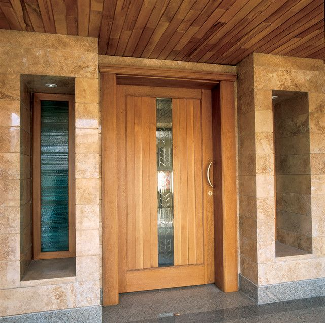 Furniture, Beautiful Picture Designs Contemporary Front Doors Brown Color  Wooden Design Nice Brown Color Wall Good Small Window Nice Door: The Nice  Example ...