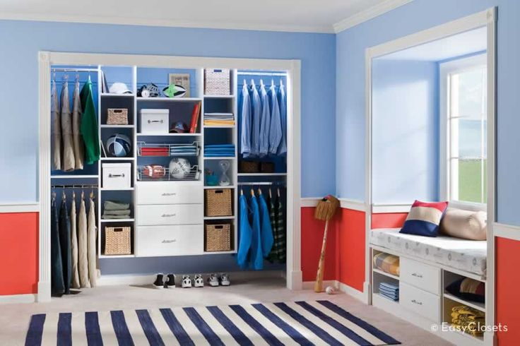 This site is the best. All u do is enter the dimensions of your space. They create your closet & ship it to u! Teen Reach-in Closet