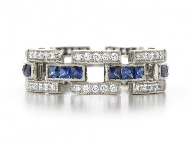 Vintage-style Sapphire and Diamond Ring