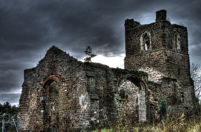 Clophill Church in Bedfordshire, England.  It is said to be the place of Black magic, devil worship and ghosts. The church is said to be a gateway to hell as it was built facing the wrong way.    by TomGooderson, via Flickr