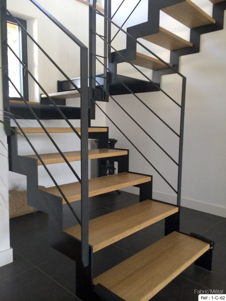 fabrication escalier metal bois escalier moderne en bretagne morbihan fabric metal. Black Bedroom Furniture Sets. Home Design Ideas