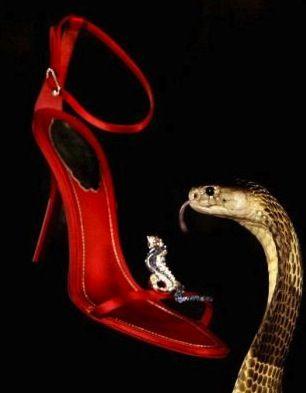Rene Caovilla 2 sulla punta un cobra tempestato di diamanti rubini e zaffiri