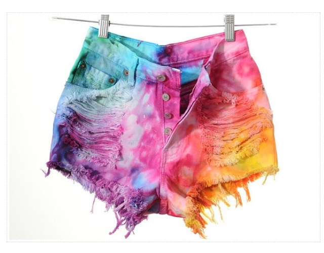 High rise tie dye shorts - 31 Best Images About Rave On Pinterest Black Bra, Weed And See