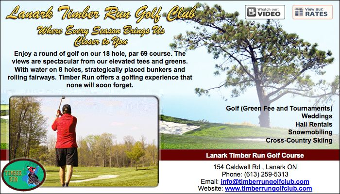Lanark Timber Run Golf Course - 154 Caldwell Rd , Lanark ON