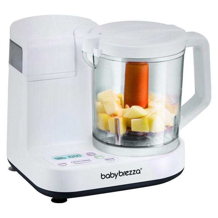 Baby brezza food blender and processor white baby brezza