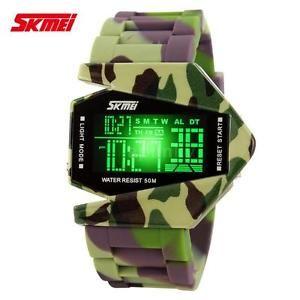 Neu SKMEI Herren Jungen LED Digital Sportuhr Militär armee Armbanduhr Uhren Y5F4 | eBay