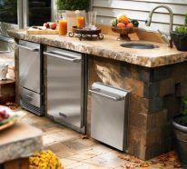 Outdoor-Küchenlayout – Ideen und Tipps   – aubenkuche.diyhomedesigner.com