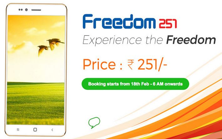Ringing Bells Freedom 251: $3.50 Smartphone Launched in India (Rs.251)