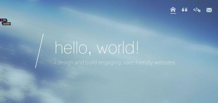 Pure web design: http://www.webdesign-inspiration.com/web-design/aliciaharris-ca-11671