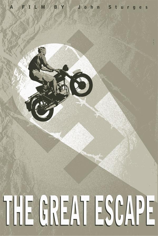 Splendid! Minimalist 'The Great Escape' Movie Retro Poster
