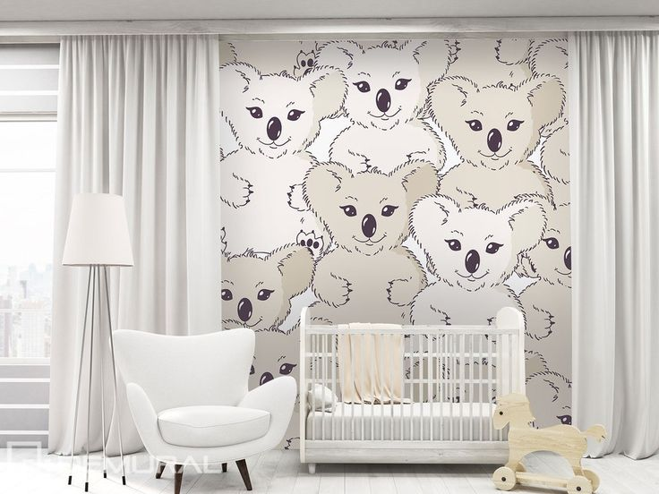 With Koala bear on the wall
