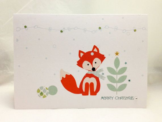 Christmas Cards . Holiday Cards . Personalized Christmas Cards . Unique christmas cards . Custom Christmas cards . Christmas fox