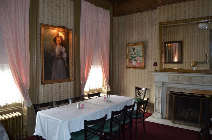 Front parlor room at the Lemp Mansion, and purported suicide site of Billy Lemp.