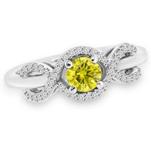Canary Yellow Diamond Engagement Promise Ring