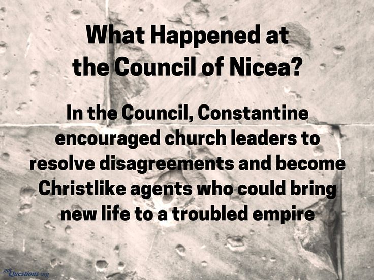 Why did the Council of Nicea argue the #deity of Christ and date of #Easter, and what did they decide? http://www.gotquestions.org/council-of-Nicea.html