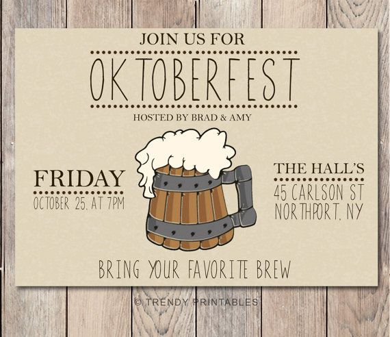 Best 25 Oktoberfest invitation ideas – Oktoberfest Party Invitations