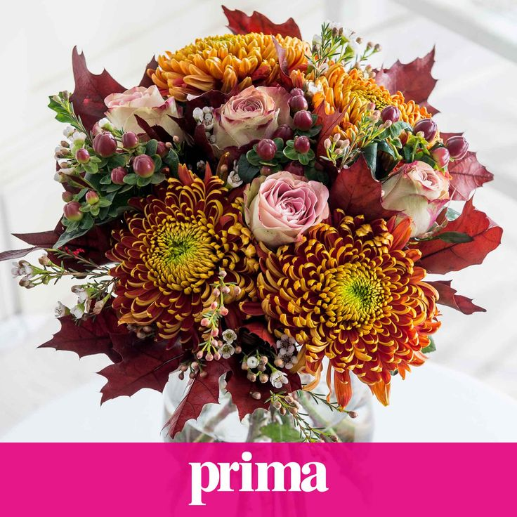 Shades of Autumn: Our Prima Shades of Autumn bouquet is a striking collection of seasonal blooms that's just perfect for bringing Autumn indoors! We're sure your loved one will be delighted with such a stunning arrangement.