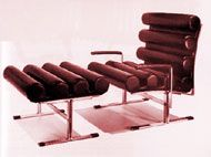 Roll Armchair and Footstool, 1962  Joe Colombo