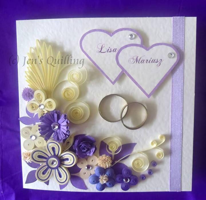 Biglietti Auguri Matrimonio Quilling : Oltre idee su biglietti per anniversario di