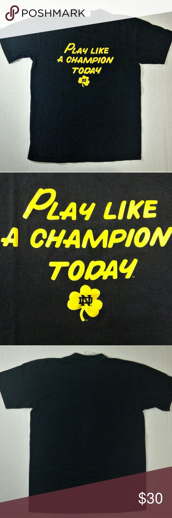 Notre Dame T-Shirt Very cool retro ND tee in great condition. very cool design. Men's size L. Majestic Shirts Tees - Short Sleeve