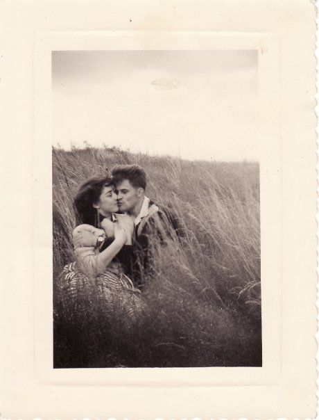 """Here are my French grandparents, Marie-Thérèse and Georges, in the 50's for their second date.