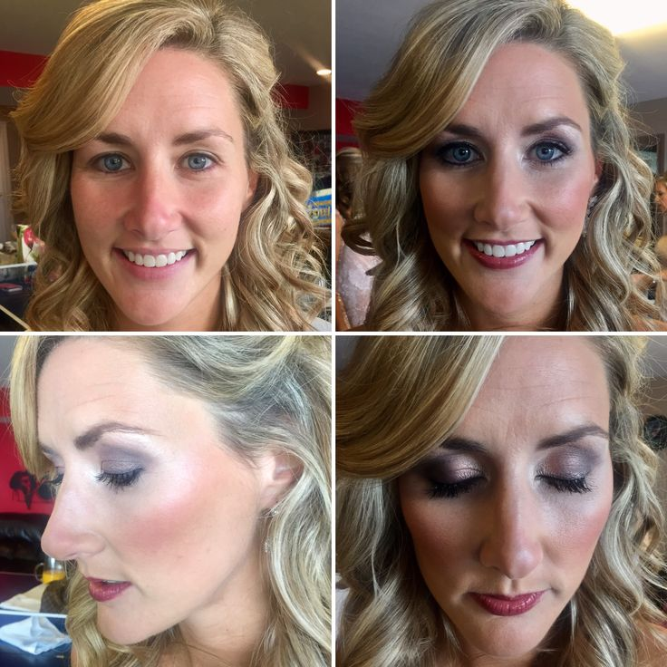 Before and after makeup of my Sept. 24, 2016 bride, Aubre.