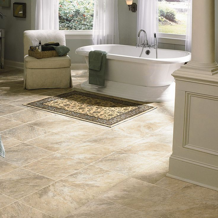 70 best mannington adura images on pinterest vinyl tiles for Tile linoleum bathroom