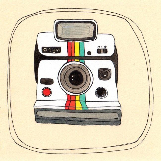 Polaroid Camera Icon Clipart Clipartme Art Print Vintage Illustration Wall