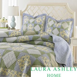 Laura Ashley Caroline Reversible Floral 3-piece Quilt Set