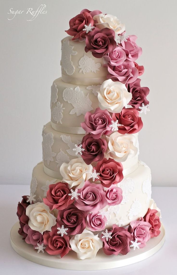 wedding cakes with ruffles and roses pin by spandana reddy sappidi on cakes cake 26113