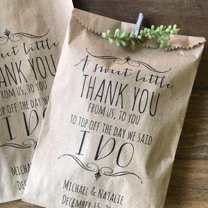 Kraft paper wedding favor thank-you bag