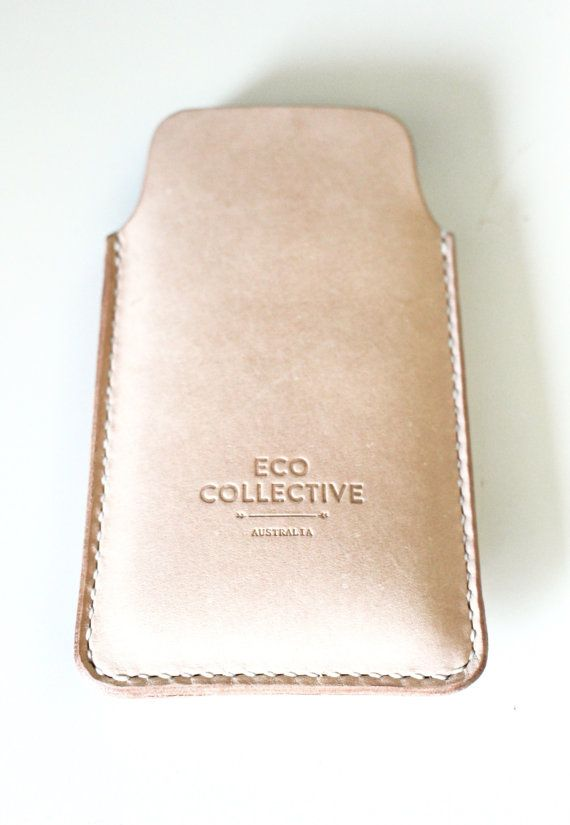 iPhone 6 plus case leather sleeve pouch cases by EcoCollectiveAus