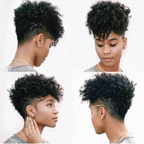 Short Side Haircut African American Hair Latest Short Haircuts For African American Women Tapered Hair Tapered Natural Hair Curly Hair Styles