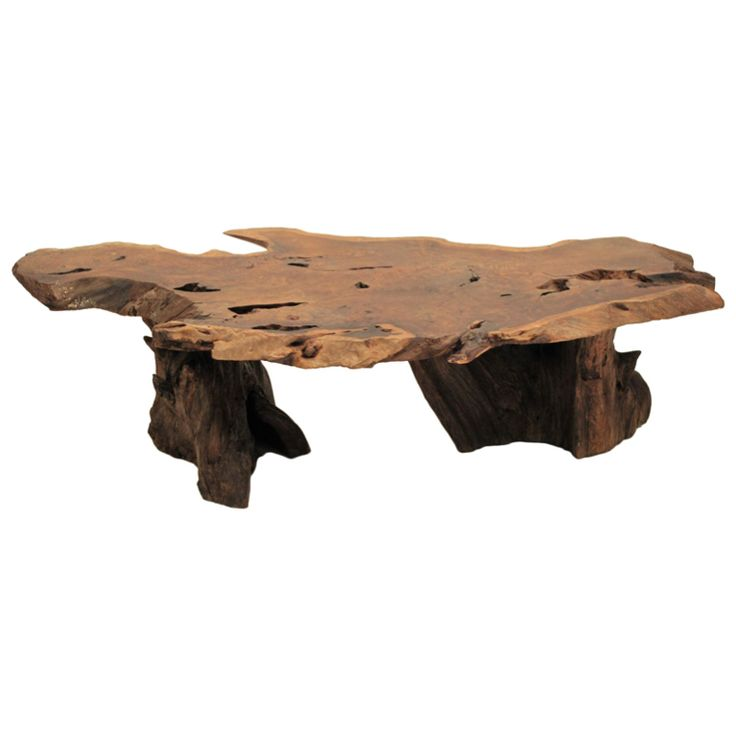I want this table! California Redwood Slab Coffee Table