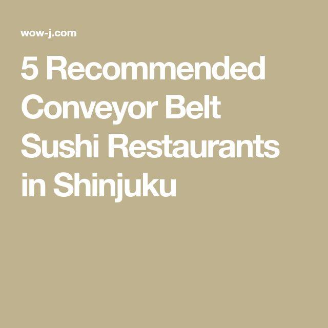 5 Recommended Conveyor Belt Sushi Restaurants in Shinjuku