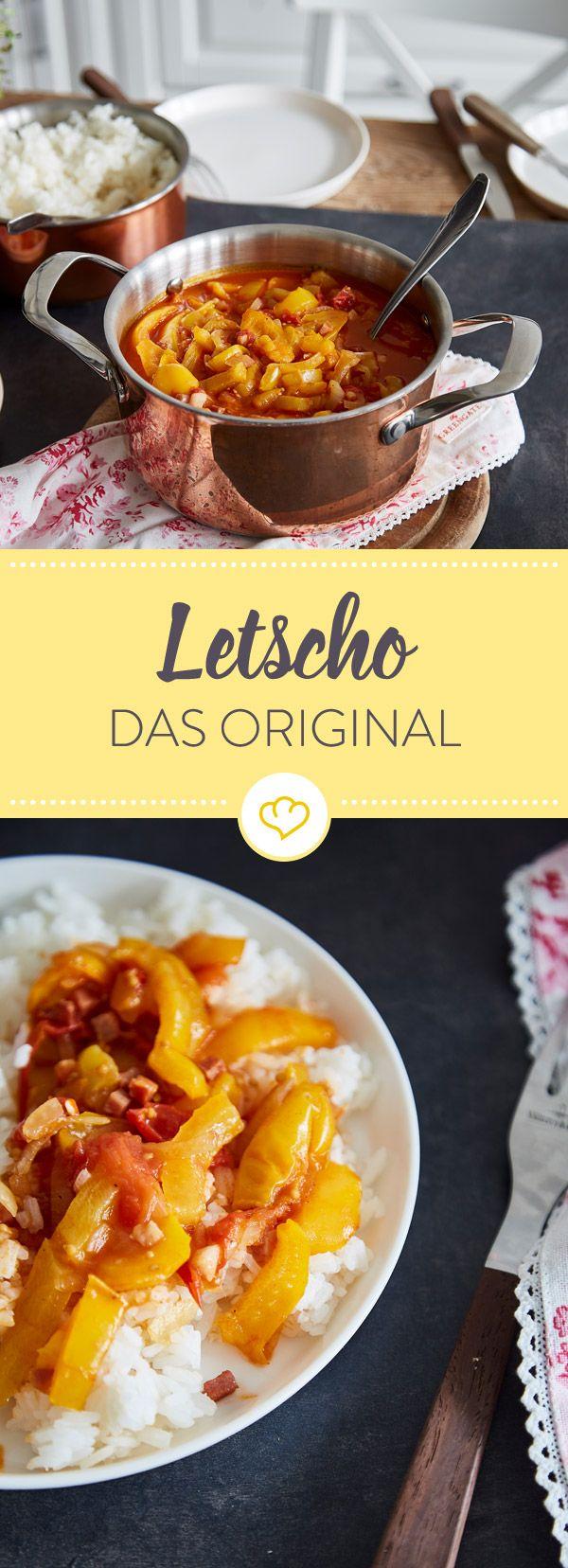Für dich als Paprika-Fan hat die ungarische Küche einiges zu bieten, wie zum Beispiel Letscho - ein Schmorgericht aus Paprika, Tomaten, Zwiebeln und Speck.
