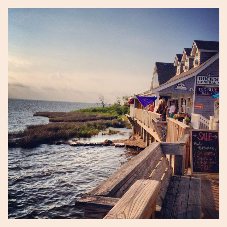 Duck, NC, soundside. The waterfront shops, where Carolina Keiki is located has dozens of specialty shops and two restaurants, coffee, and ice cream!