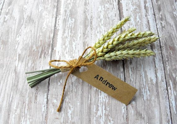 FALL WEDDING PLACE Cards-Autumn wedding place setting-wedding name cards-wheat sheaf place cards-set of 25 on Etsy, $50.00