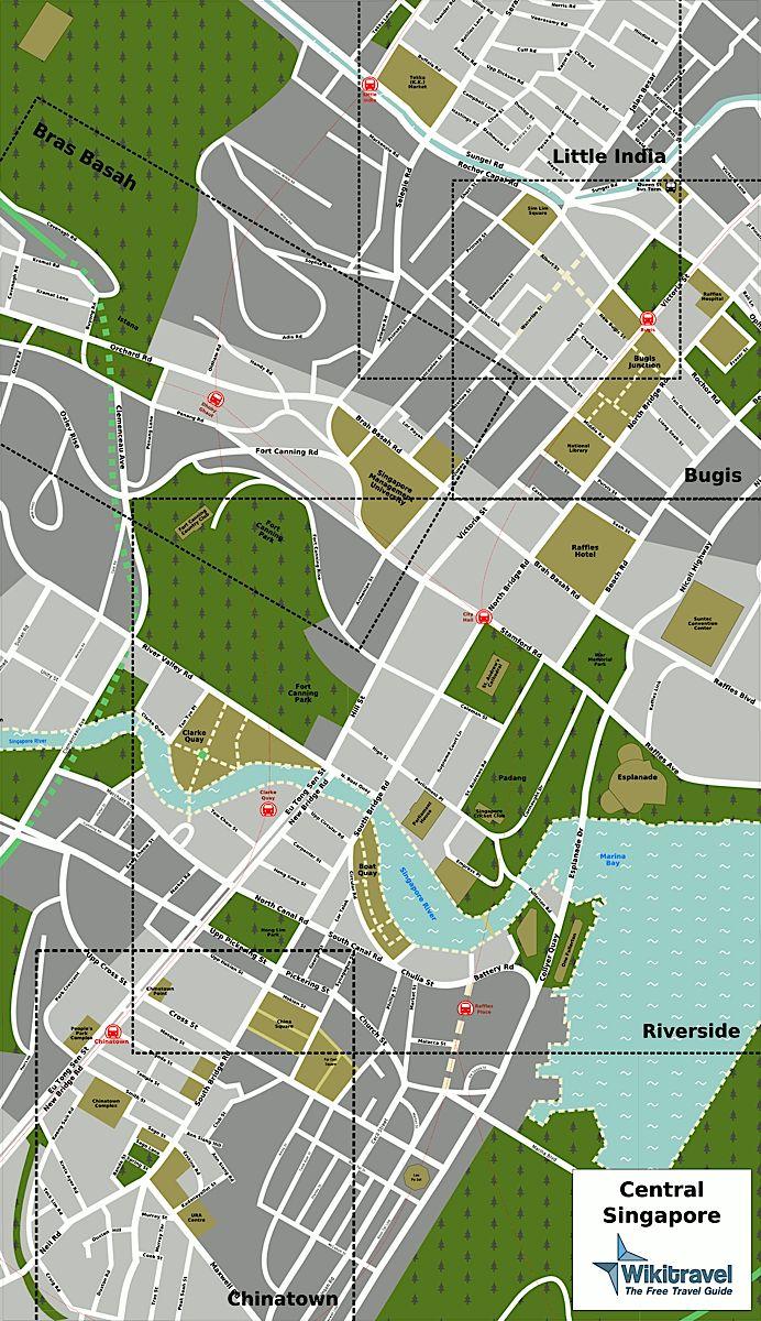 Singapore Tourist Map - Singapore • mappery